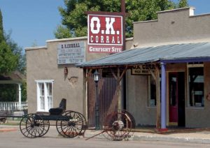 OK Coral gunfight site between lawmen and members of a loosely organized group of outlaws called the Cowboys.