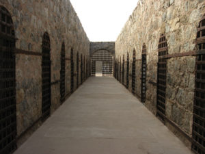 Yuma Territorial Prison with a creepy hallway.