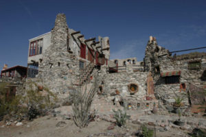 A mystery castle in Phoenix, Arizona on the hills.